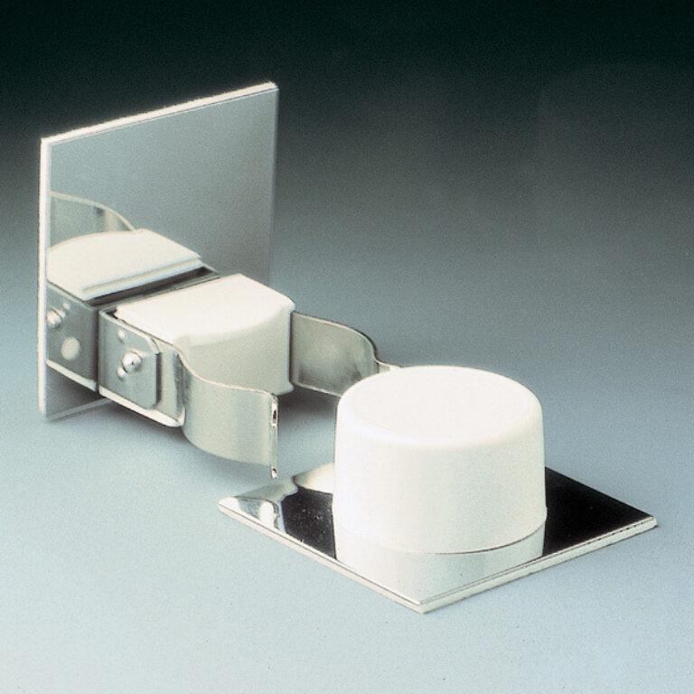 zarážka dveří odklápěcí s fixací pohybu - bílá