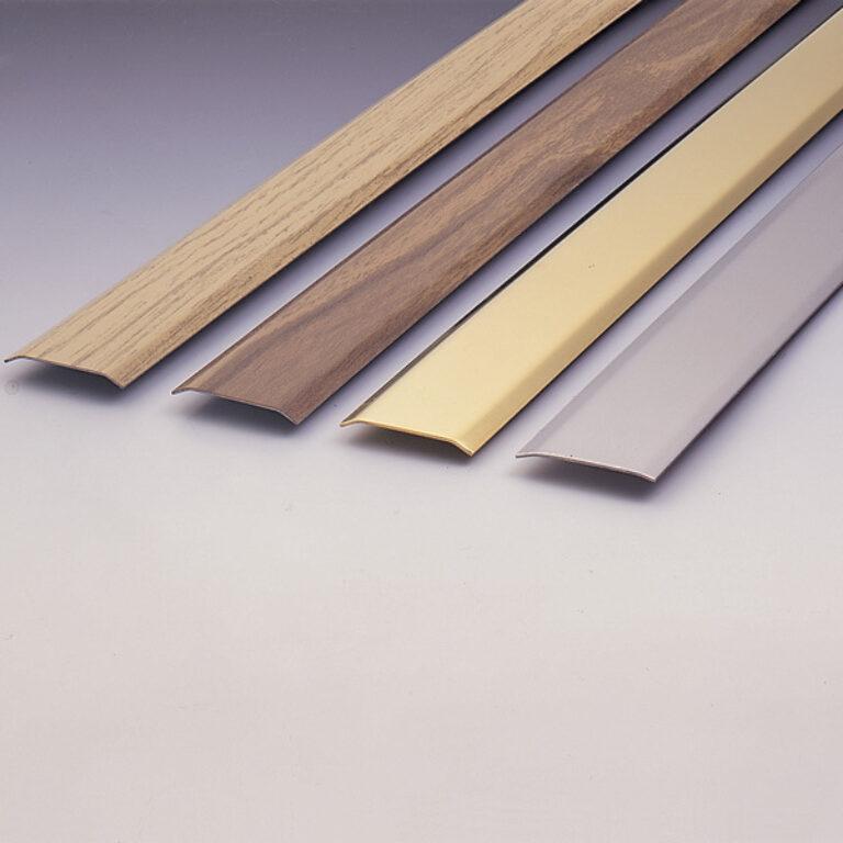 přechodová lišta 985x30x2mm - tmavé dřevo