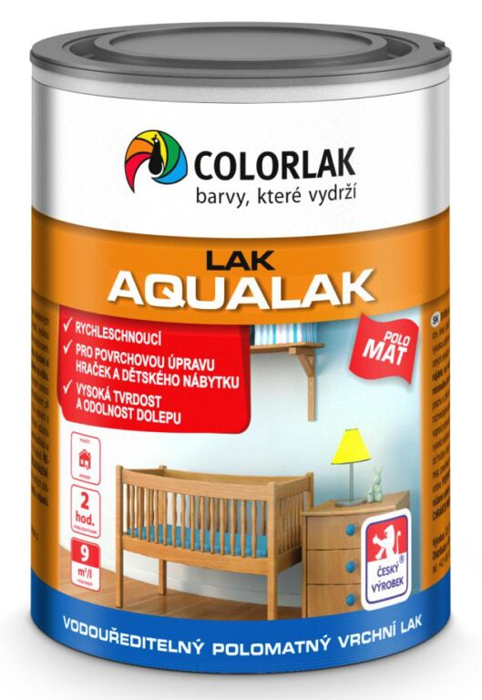 Aqualak V1419 bezbarvý polomat 0,6 L
