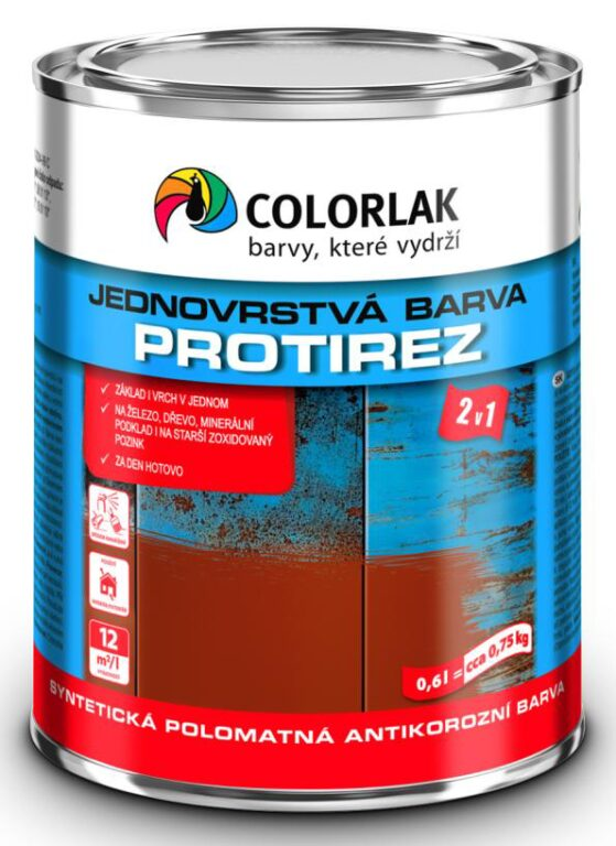 Protirez barva S2015 ral6002 zelená 0,6 L