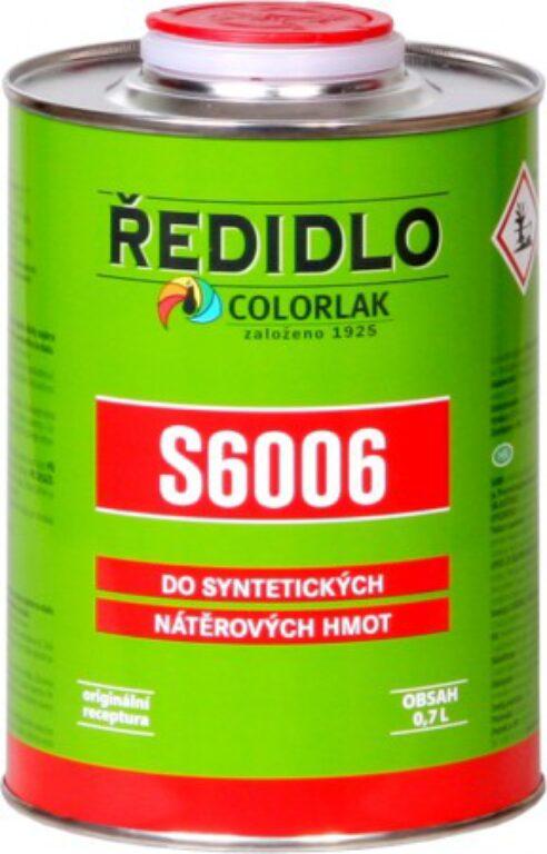 Ředidlo S6006 syntetické bezbarvé 2 L