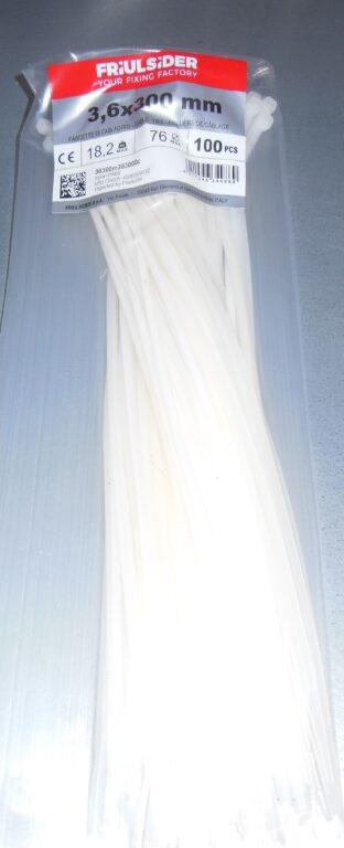 Páska stahovací FRIULSIDER 3,6 x 300 bílá  100ks