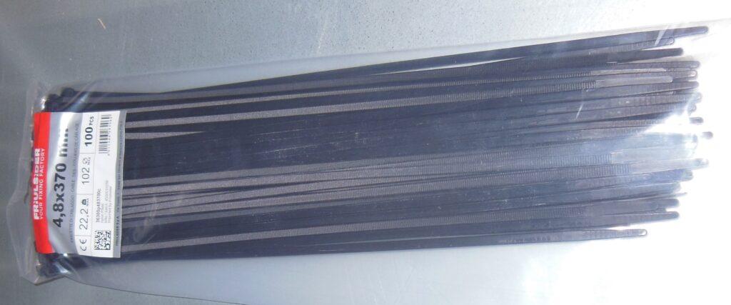 Páska stahovací FRIULSIDER 4,8 x 370 černá  100ks
