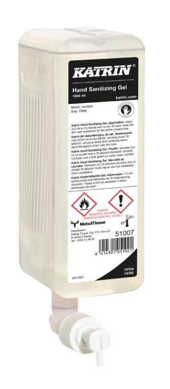 KATRIN dezinfekční gel na ruce 1L Sanitizing