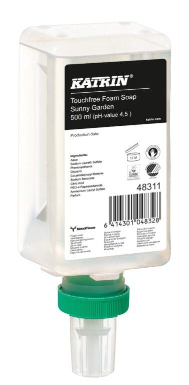 KATRIN mýdlo pěnové 500ml pro dezdotykový dávkovač vůně Sunny Garden