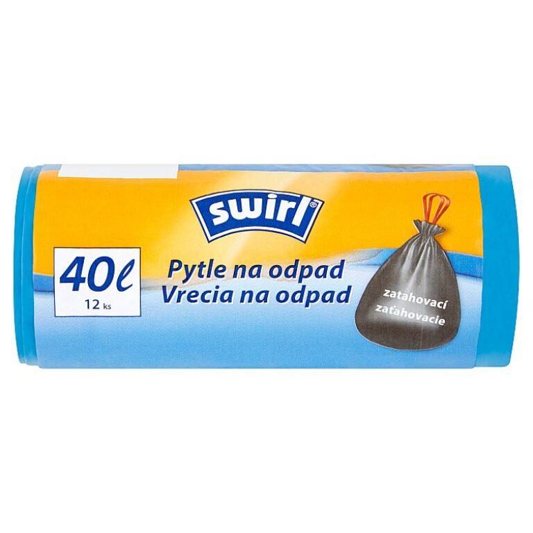 SWIRL Zatahovací pytle na odpad 40L 12ks