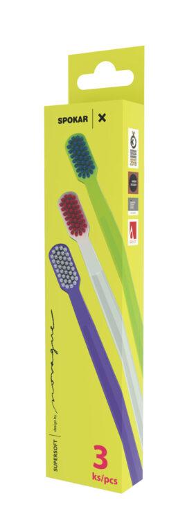 Zubní kartáček 3429 X supersoft, 3 pack