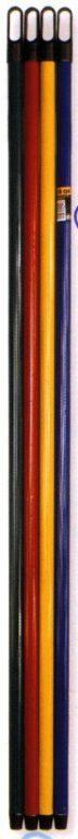 Hůl kovová 130cm jemný závit MODRÁ
