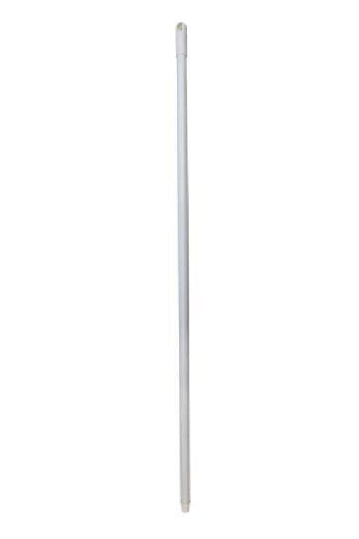 Hůl kovová 130cm jemný závit BÍLÁ