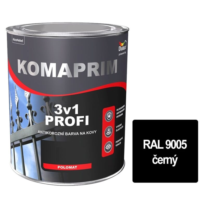 Komaprim 3v1 PROFI černý 2,5L  RAL 9005