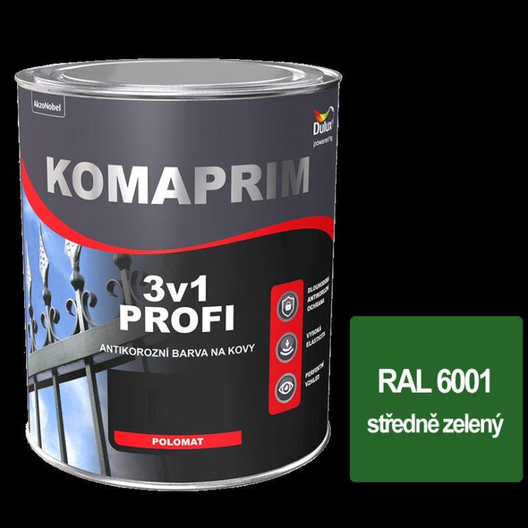 Komaprim 3v1 PROFI středně zelený 0,75L RAL 6001