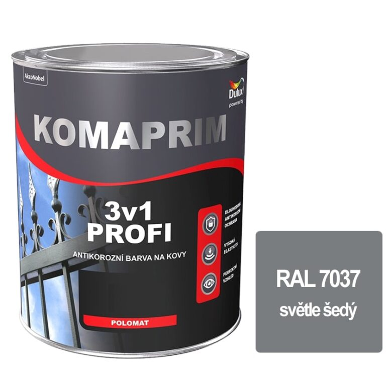 Komaprim 3v1 PROFI světle šedý 0,75L RAL 7037