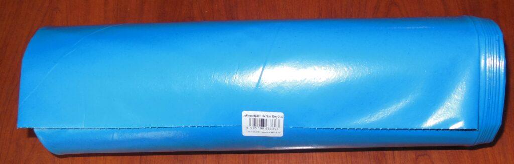 Pytle na odpad 70x110cm 120l  25ks modré 80my