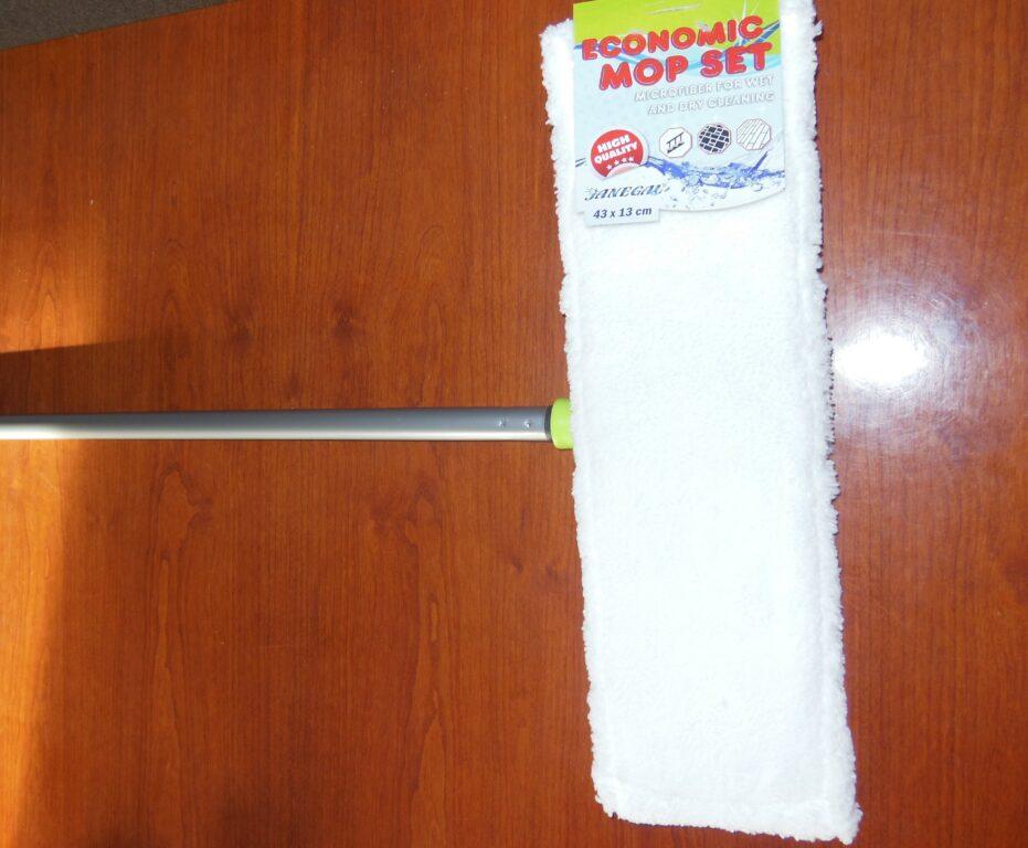 Mop Eko s tyčí pro mokrý úklid velkoplošný 43x13cm