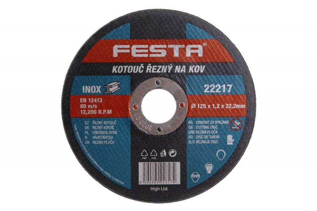 Kotouč řezný FESTA na kov 125x1,2x22,22mm