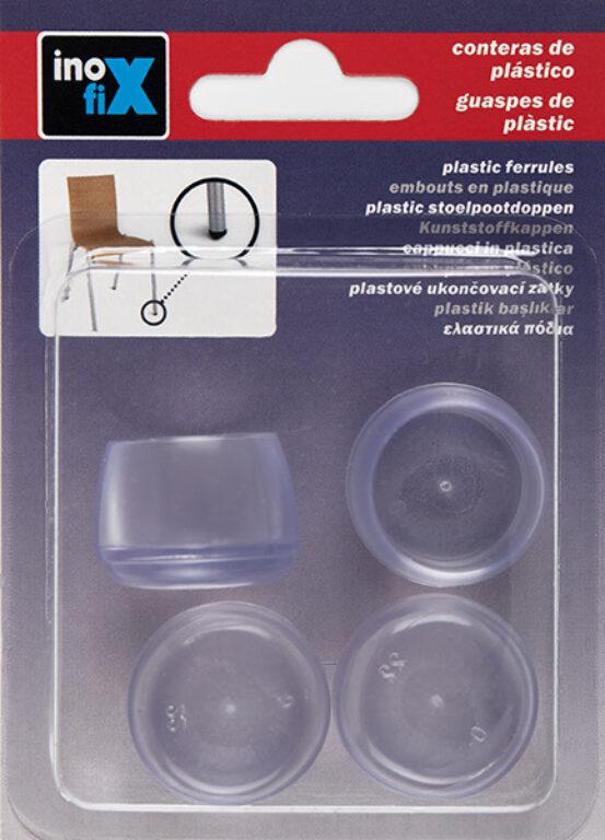 Silikonový návlek na nohu/y židle/í  pr.22mm transparentní  4ks blistr