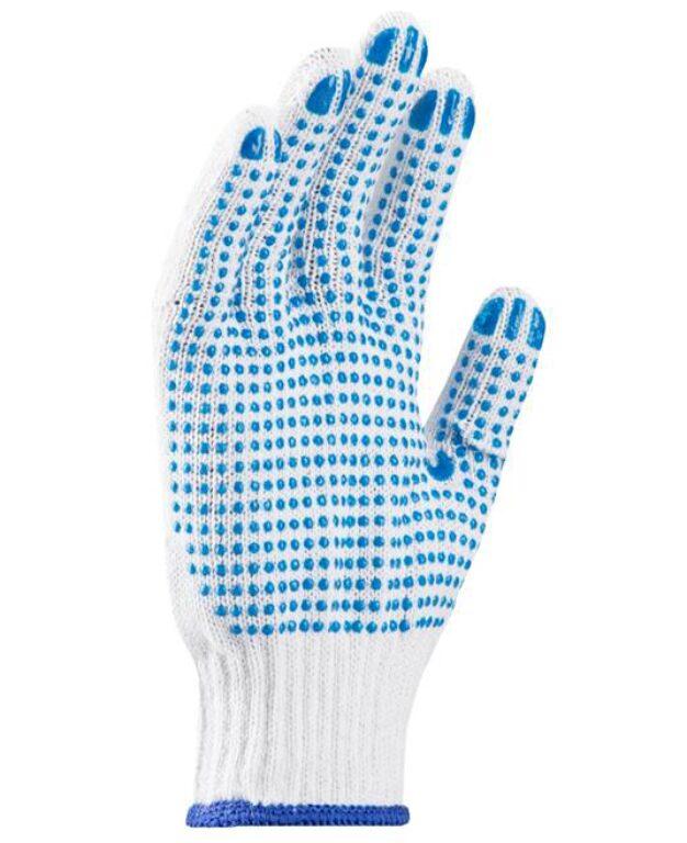 Rukavice PERRY pletené s terčíky č.10 na stojan