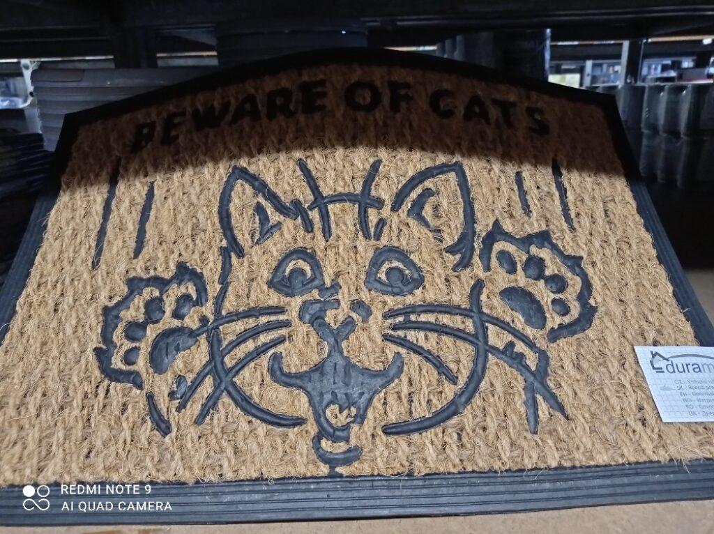 Rohož guma & mořská tráva 40x60cm / Cats