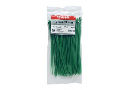 Páska stahovací FRIULSIDER 3,6 x 200 zelená 100ks